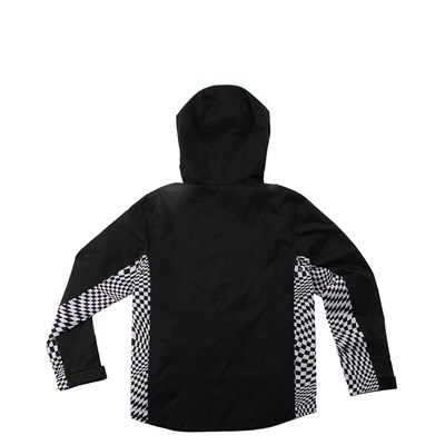 Alternate view of Vans Warp Check Windbreaker Hoodie - Little Kid / Big Kid - Black