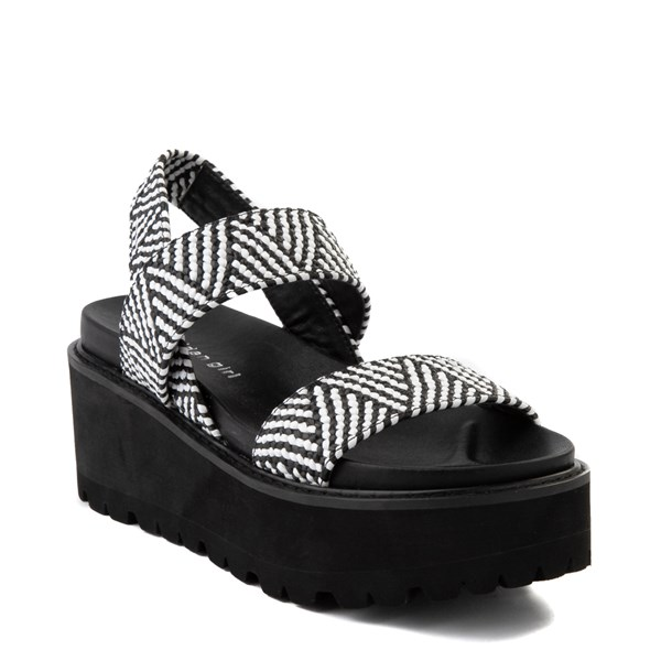 alternate view Womens Madden Girl Catt Platform Sandal - Black / WhiteALT1