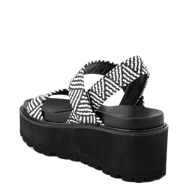 alternate view Womens Madden Girl Catt Platform Sandal - Black / WhiteALT2