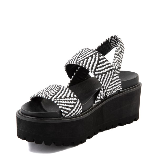 alternate view Womens Madden Girl Catt Platform Sandal - Black / WhiteALT3