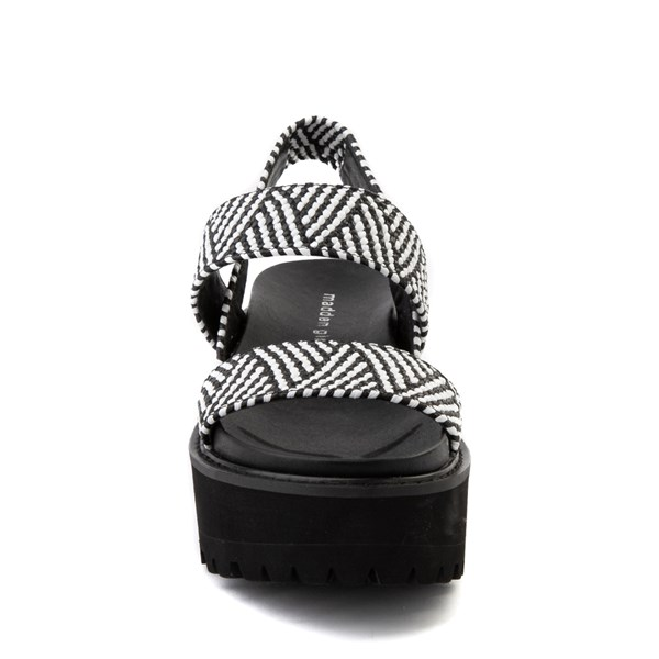 alternate view Womens Madden Girl Catt Platform Sandal - Black / WhiteALT4