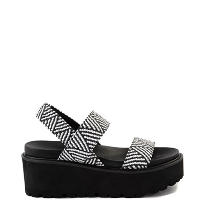 Main view of Womens Madden Girl Catt Platform Sandal - Black / White