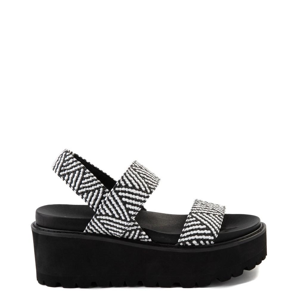 Womens Madden Girl Catt Platform Sandal - Black / White
