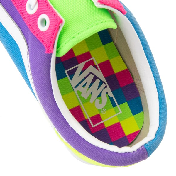 alternate view Vans Old Skool Neon Color-Block Skate Shoe - Pink / Purple / YellowALT8