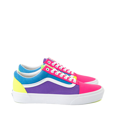Main view of Vans Old Skool Neon Block Skate Shoe - Multi