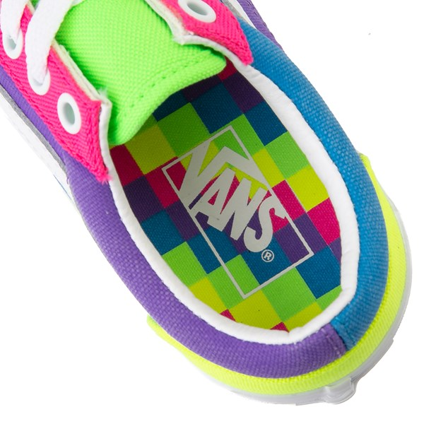 alternate view Vans Old Skool Neon Color-Block Skate Shoe - Little Kid - Pink / Purple / YellowALT8