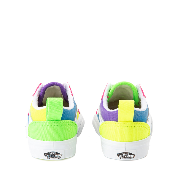 alternate view Vans Old Skool Neon Color-Block Skate Shoe - Baby / Toddler - Pink / Purple / YellowALT4