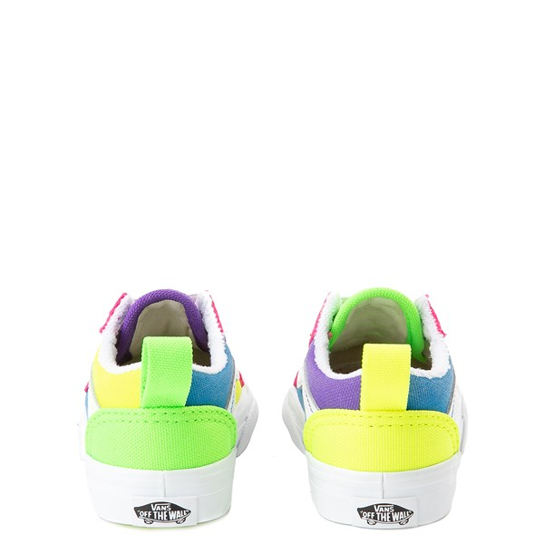 alternate view Vans Old Skool Neon Color-Block Skate Shoe - Baby / Toddler - Pink / Purple / YellowALT6