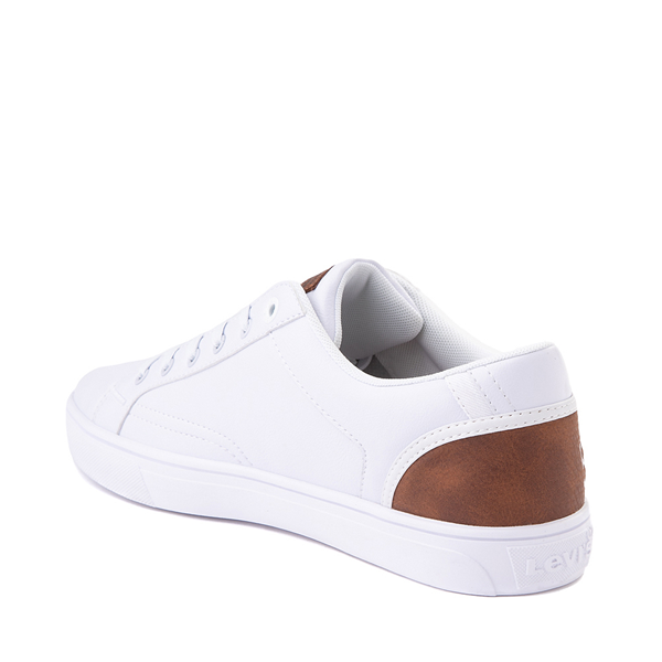 alternate view Mens Levi's 501® Jeffrey Casual Shoe - WhiteALT1