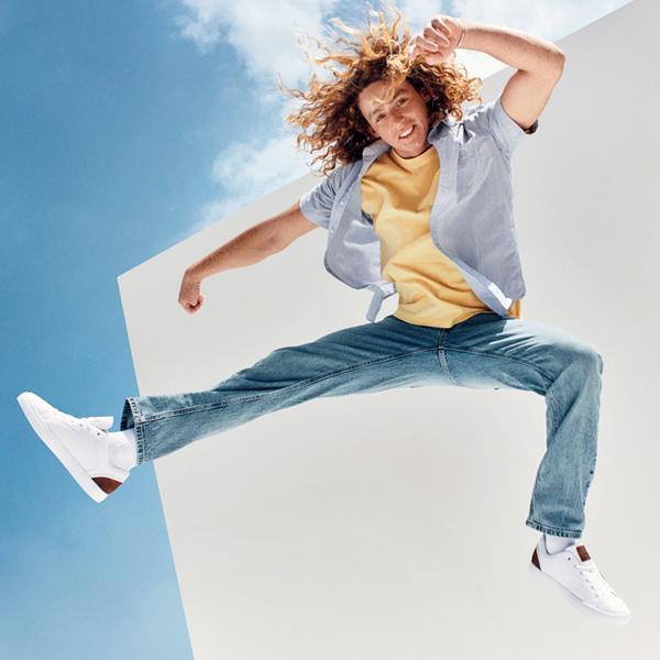 alternate view Mens Levi's 501® Jeffrey Casual Shoe - WhiteALT1B