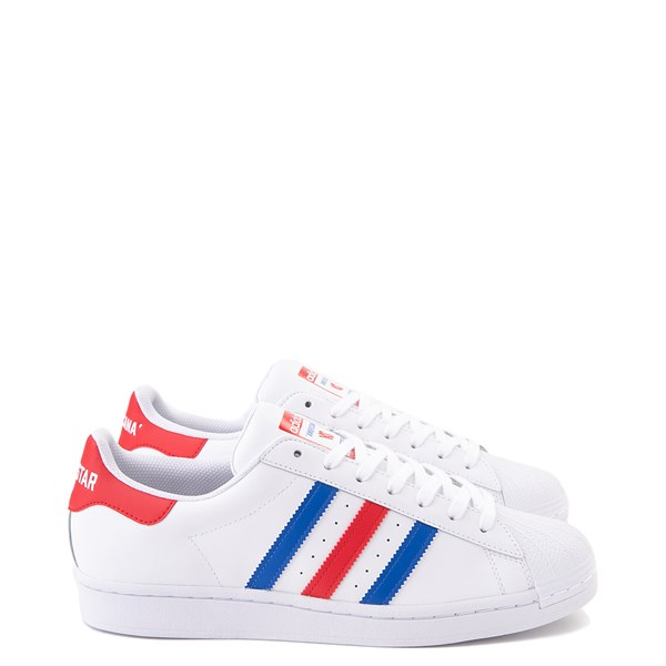 Mens adidas Superstar Courtside Americana Athletic Shoe - Red / White / Blue
