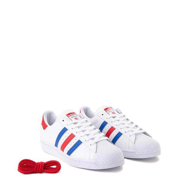 alternate view Mens adidas Superstar Courtside Americana Athletic Shoe - Red / White / BlueALT1
