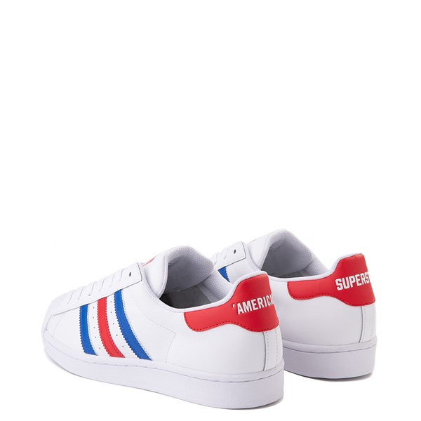 alternate view Mens adidas Superstar Courtside Americana Athletic Shoe - Red / White / BlueALT2