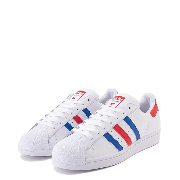 alternate view Mens adidas Superstar Courtside Americana Athletic Shoe - Red / White / BlueALT3