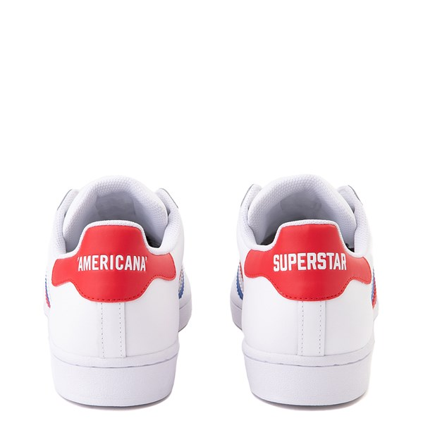 alternate view Mens adidas Superstar Courtside Americana Athletic Shoe - Red / White / BlueALT6