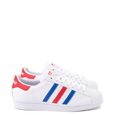 Main view of Mens adidas Superstar Courtside Americana Athletic Shoe - Red / White / Blue