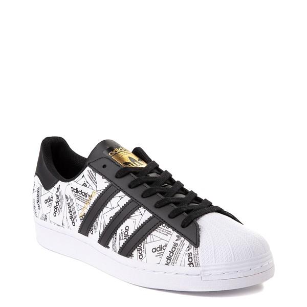 alternate view Mens adidas Superstar Signature Athletic Shoe - White /BlackALT1B