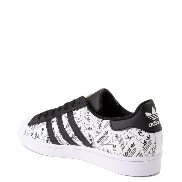 alternate view Mens adidas Superstar Signature Athletic Shoe - White /BlackALT2
