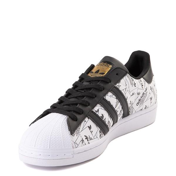 alternate view Mens adidas Superstar Signature Athletic Shoe - White /BlackALT3