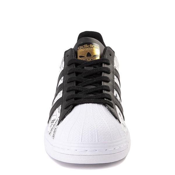 alternate view Mens adidas Superstar Signature Athletic Shoe - White /BlackALT4