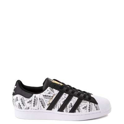 Main view of Mens adidas Superstar Signature Athletic Shoe - Black