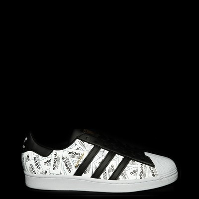 Alternate view of Mens adidas Superstar Signature Athletic Shoe - Black
