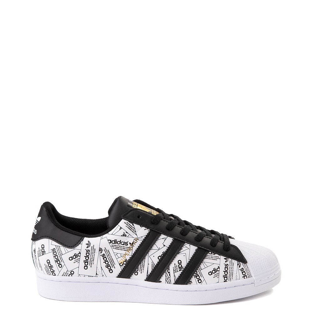 Mens adidas Superstar Signature Athletic Shoe - White /Black