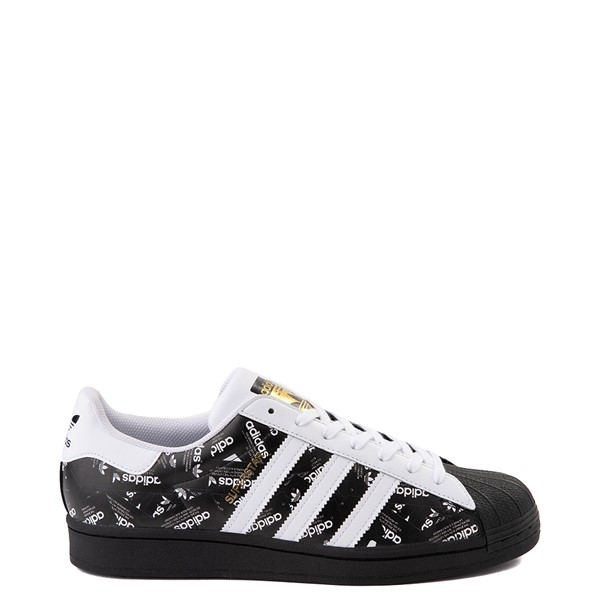 Mens adidas Superstar Signature Athletic Shoe - Black /White