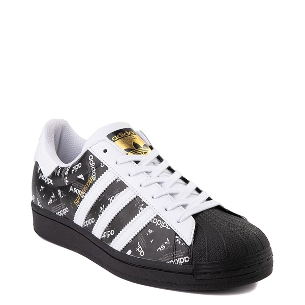 alternate view Mens adidas Superstar Signature Athletic Shoe - Black /WhiteALT1