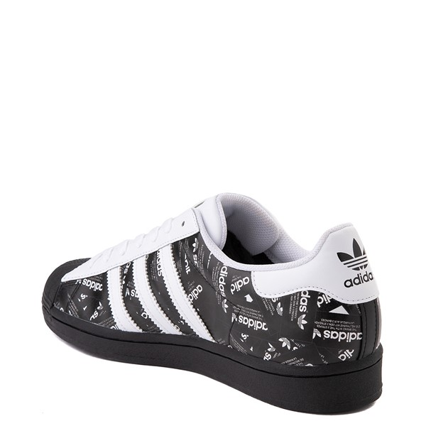 alternate view Mens adidas Superstar Signature Athletic Shoe - Black /WhiteALT2