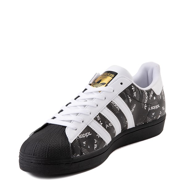 alternate view Mens adidas Superstar Signature Athletic Shoe - Black /WhiteALT3