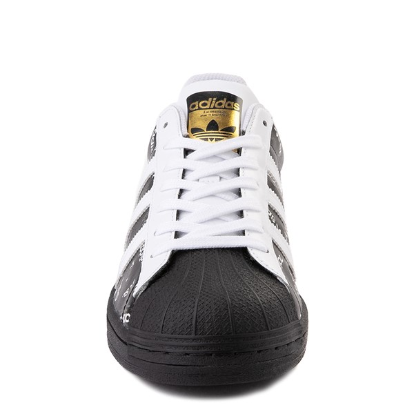 alternate view Mens adidas Superstar Signature Athletic Shoe - Black /WhiteALT4