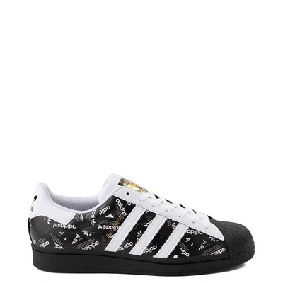 Main view of Mens adidas Superstar Signature Athletic Shoe - White