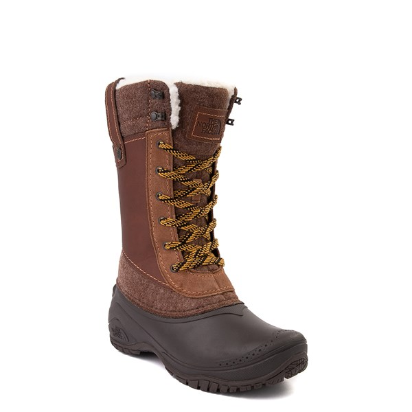 alternate view Womens The North Face Shellista III Mid Boot - Demitasse Brown / Carafe BrownALT1