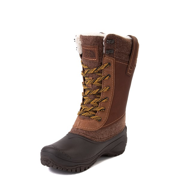 alternate view Womens The North Face Shellista III Mid Boot - Demitasse Brown / Carafe BrownALT3