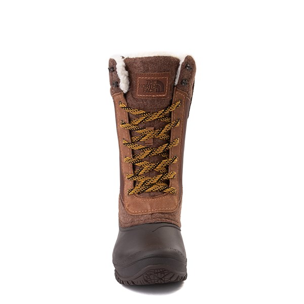 alternate view Womens The North Face Shellista III Mid Boot - Demitasse Brown / Carafe BrownALT4