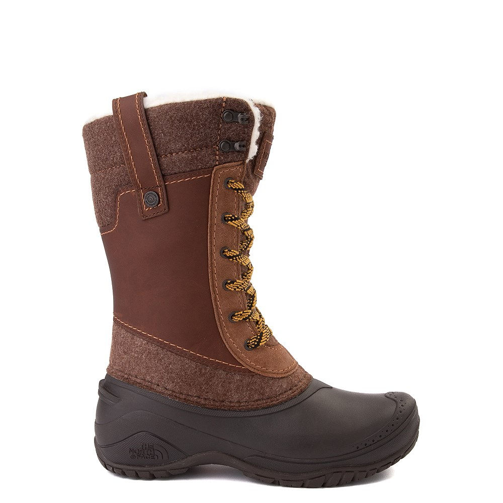 Womens The North Face Shellista III Mid Boot - Demitasse Brown / Carafe Brown