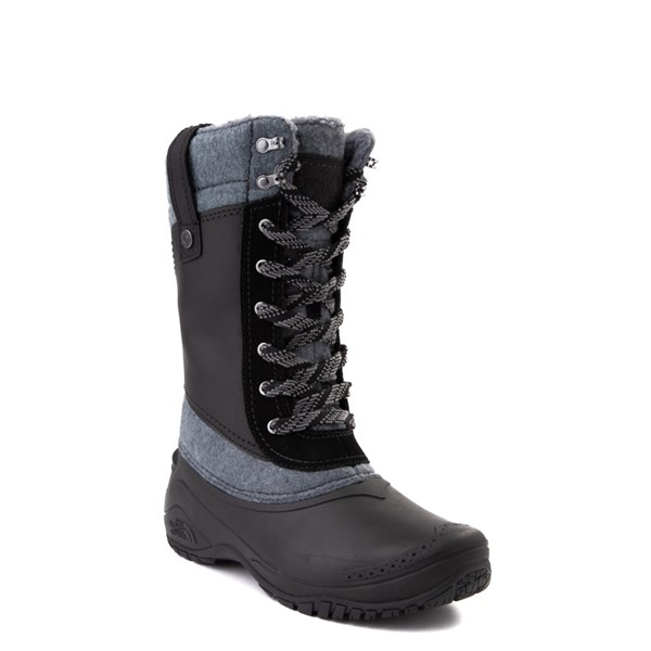 alternate view Womens The North Face Shellista III Mid Boot - Black / Zinc GrayALT1