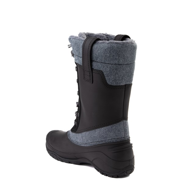 alternate view Womens The North Face Shellista III Mid Boot - Black / Zinc GrayALT2
