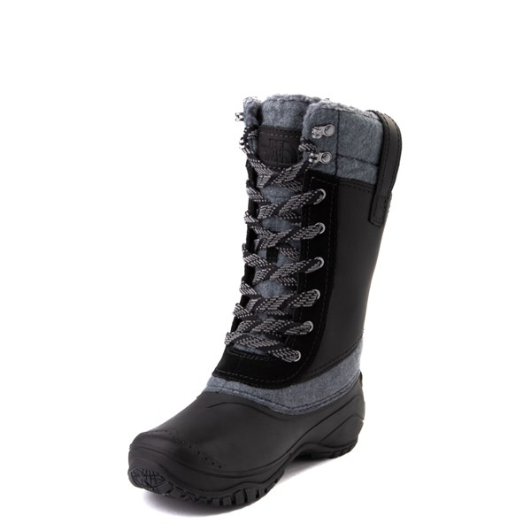 alternate view Womens The North Face Shellista III Mid Boot - Black / Zinc GrayALT3