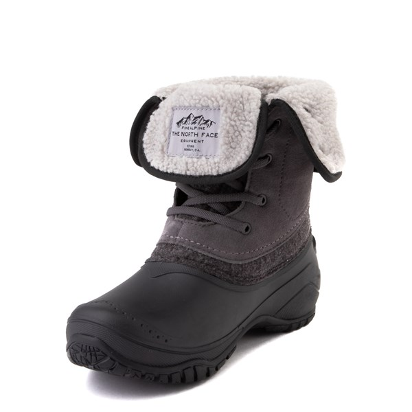 alternate view Womens The North Face Shellista Roll-Down Boot - Dark Gull Gray / Phantom GrayALT3