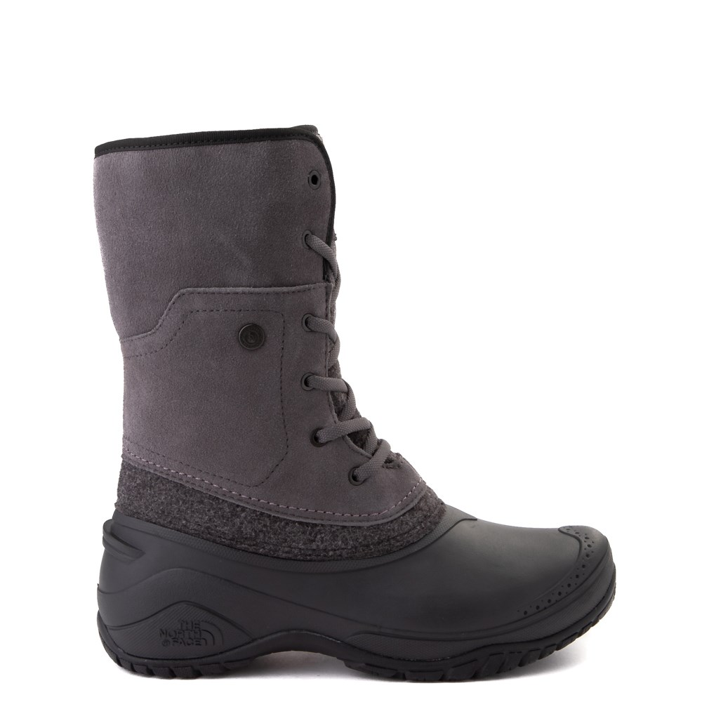 Womens The North Face Shellista Roll-Down Boot - Dark Gull Gray / Phantom Gray