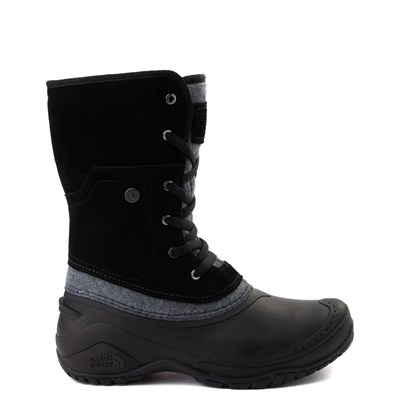 Main view of Womens The North Face Shellista Roll-Down Boot - Black / Zinc Gray