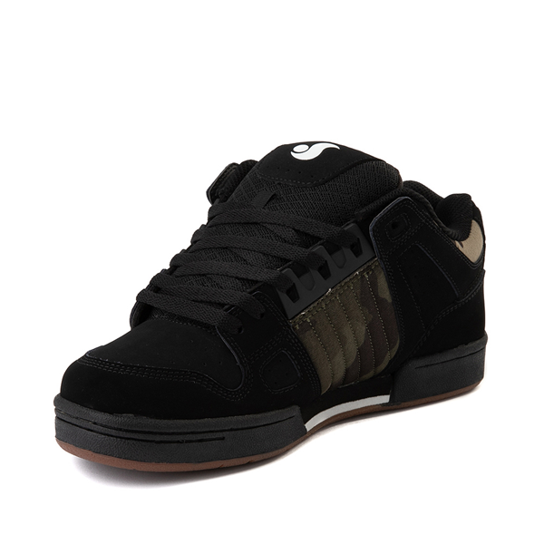 alternate view Mens DVS Celsius Skate Shoe - Black / Camo / CharcoalALT2