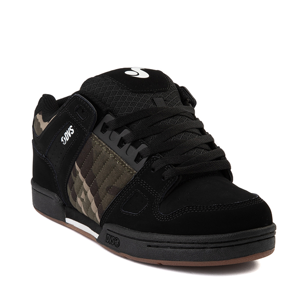 alternate view Mens DVS Celsius Skate Shoe - Black / Camo / CharcoalALT5
