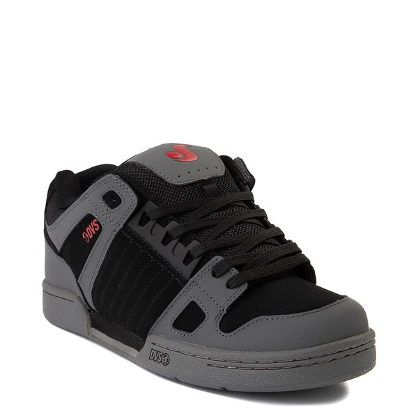alternate view Mens DVS Celsius Skate Shoe - Charcoal / Black / RedALT1