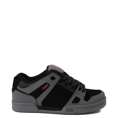 Main view of Mens DVS Celsius Skate Shoe - Charcoal / Black / Red