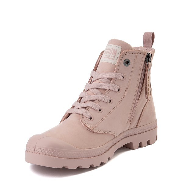 alternate view Womens Palladium Pampa Hi Zip Boot - Rose SmokeALT3