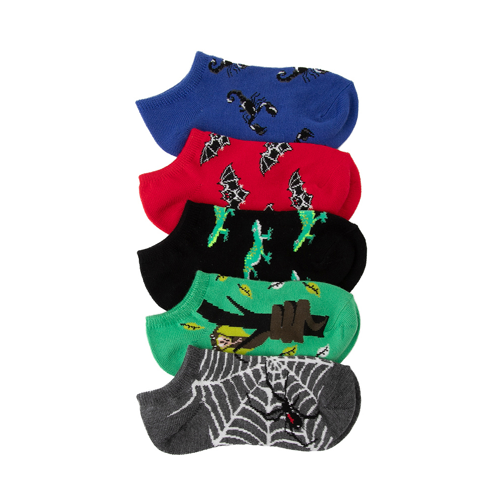 Creepy Crawlers Footie Socks 5 Pack - Little Kid - Multi