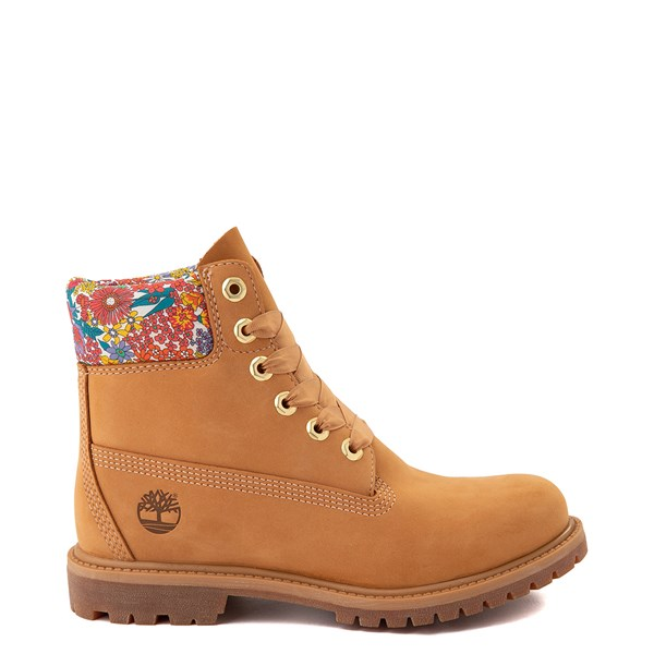 """Main view of Womens Timberland x Liberty 6"""" Premium Boot - Wheat / Floral"""